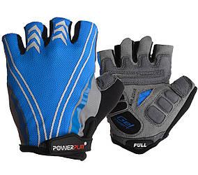 Велоперчатки PowerPlay 5007 B Голубые L