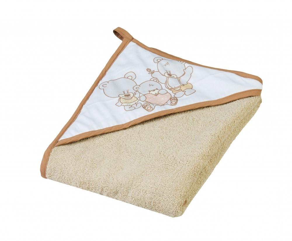 Детское мягкое махровое полотенце Tega Мишка 100x100 MS - 015 Beige