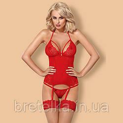Корсет эротический Obsessive 838 красный