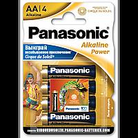 "Батарейки ""PANASONIC"" Alkaline Power AA LR06 (4 шт/уп) палец"