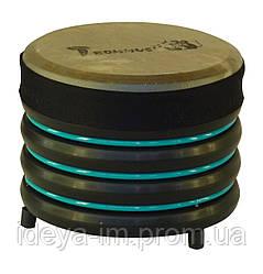 Барабан бирюзовый с натуральной кожи 19 x 22 см.