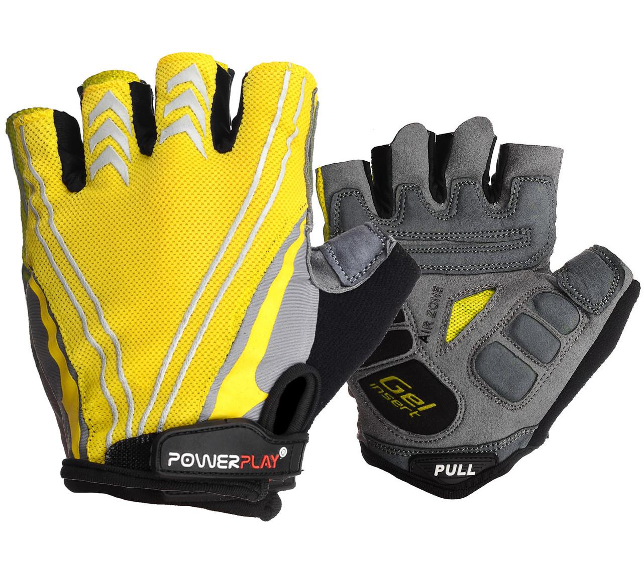 Велоперчатки PowerPlay 5007 C Желтые XXL
