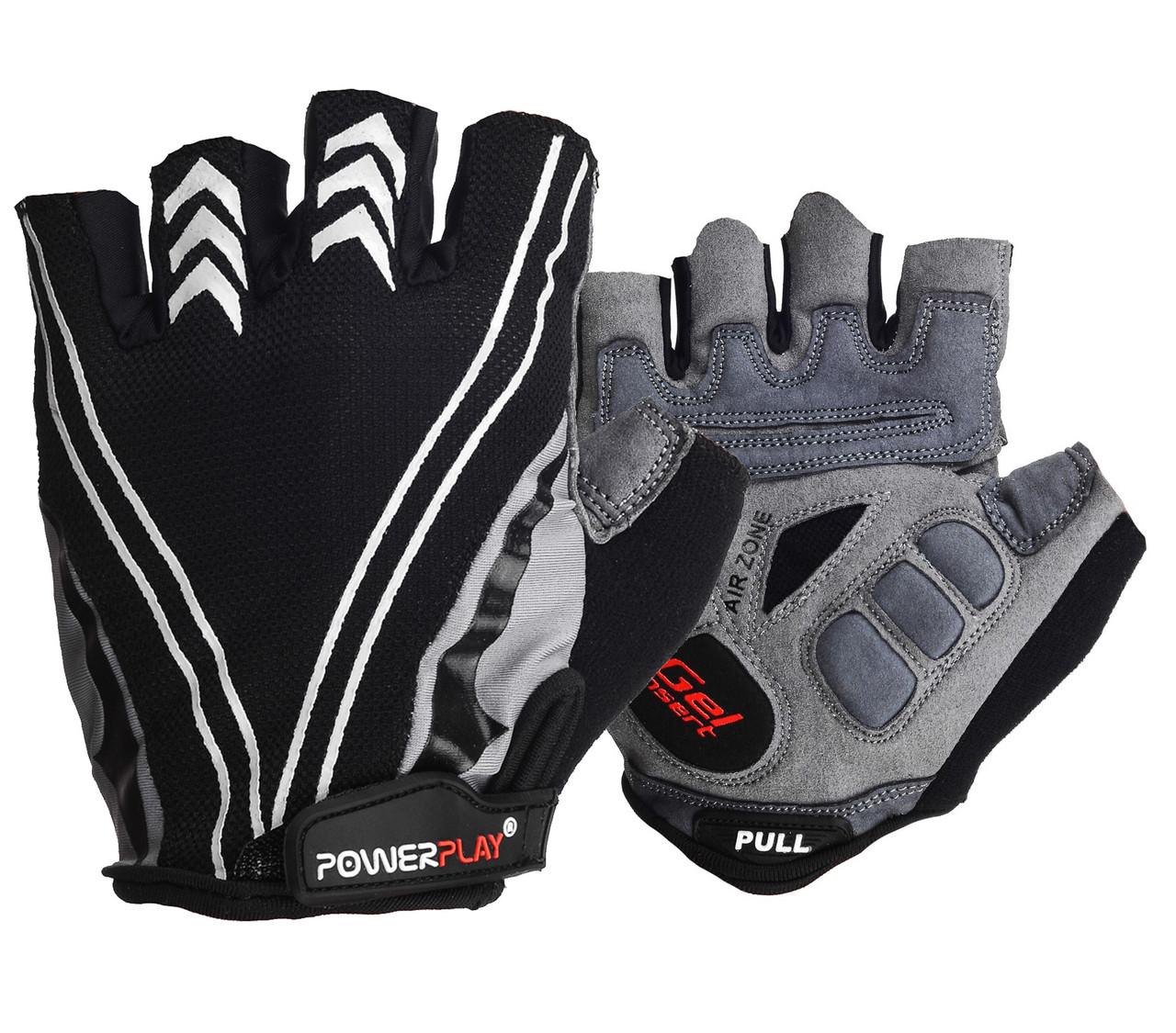 Велоперчатки PowerPlay 5007 D Черные XXL