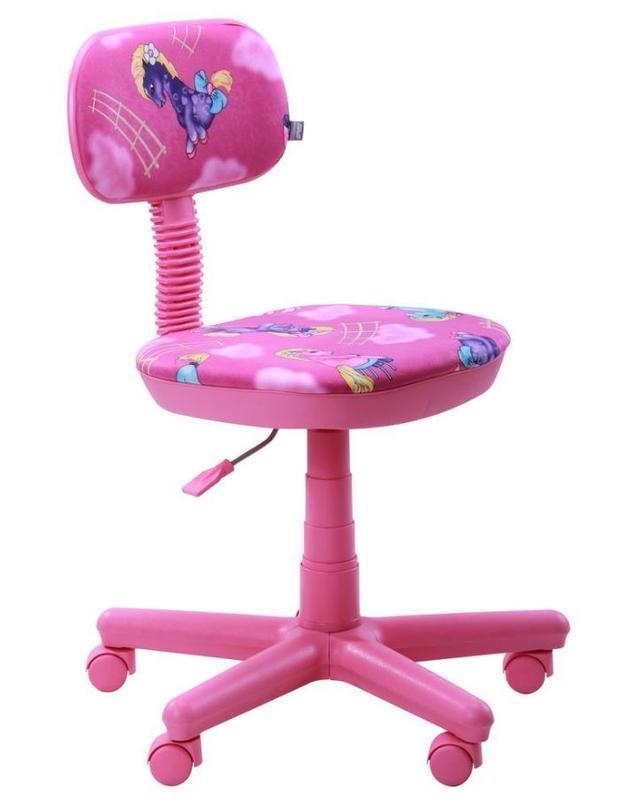 Кресло Свити сиреневый Пони розовый (Микровелюр)