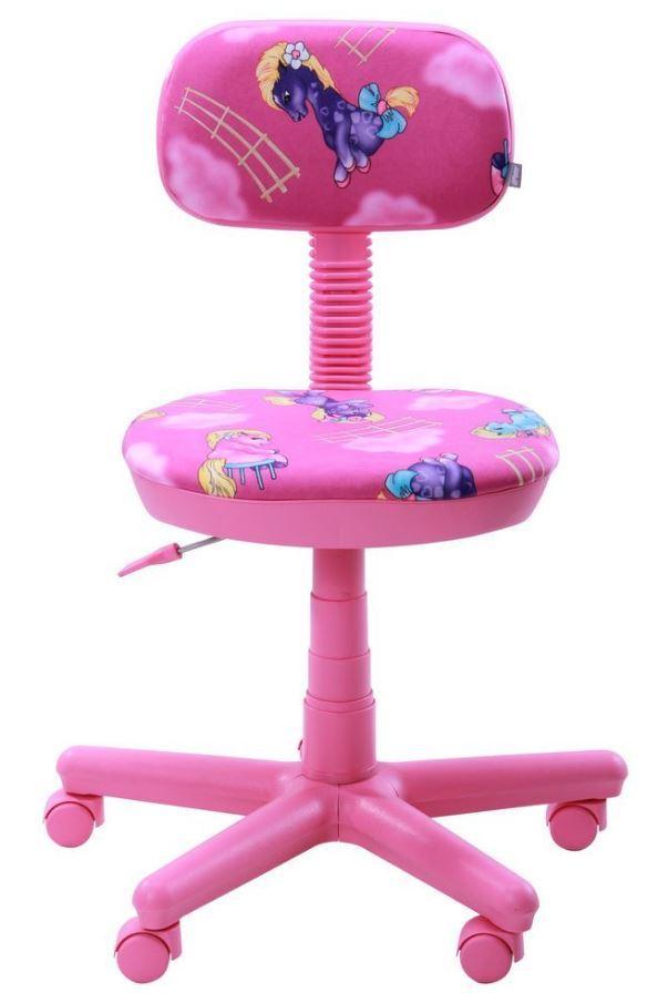 Кресло Свити сиреневый Пони розовый (Микровелюр) фото 3