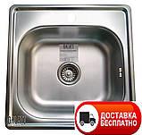 Кухонная мойка Galaţi (Eko) Fifika Textură 48*48 декор, фото 2
