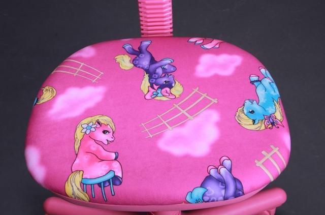 Кресло Свити сиреневый Пони розовый (Микровелюр) фото 6