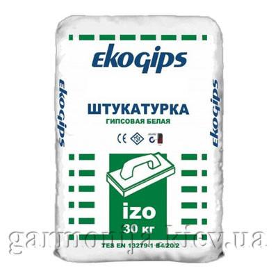 Шпаклевка EKOGIPS IZO гипсовая стартовая, 25 кг