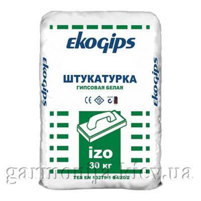Шпаклевка EKOGIPS IZO гипсовая стартовая, 25 кг, фото 2