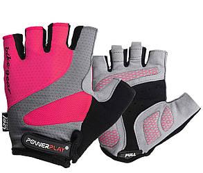 Велоперчатки PowerPlay 5004 A Розовые L