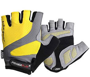 Велоперчатки PowerPlay 5004 D Желтые L