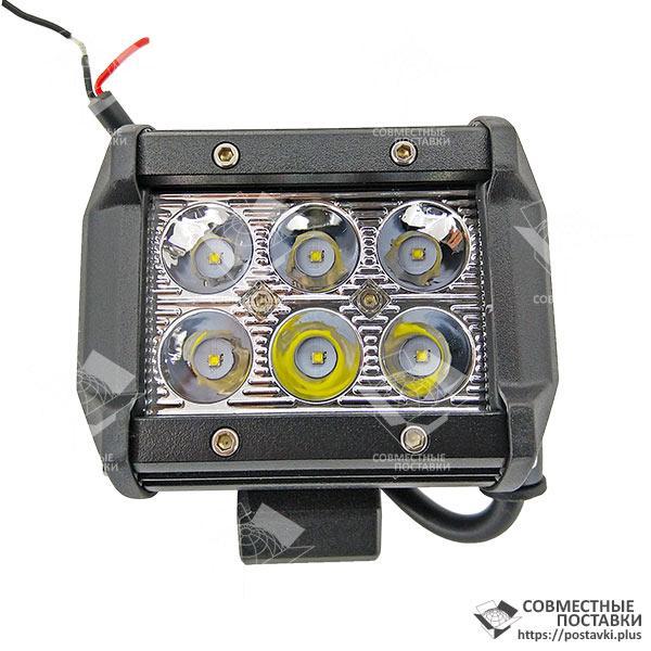 18W / 30 (6 x 3W / узкий луч, прямоугольный корпус) 1800 LM LED Фара рабочая LB0031 (Польша) 18 Ватт