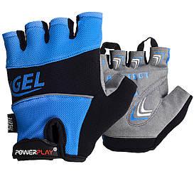 Велоперчатки PowerPlay 1058 Синие S