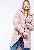 Удлиненная женская куртка с асимметричным низом