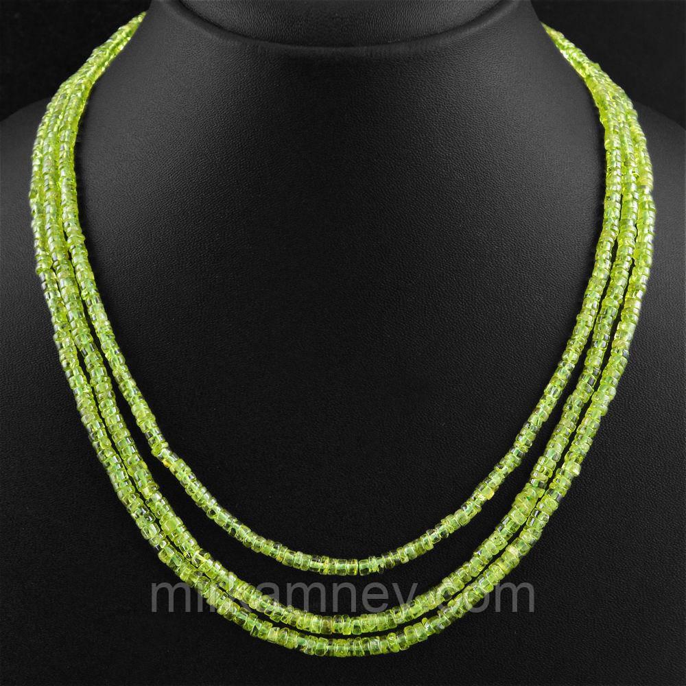 Бусы ожерелье натуральный природный хризолит (перидот,оливин)