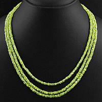 Бусы ожерелье натуральный природный хризолит (перидот,оливин), фото 1
