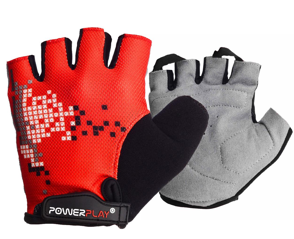 Велорукавички PowerPlay 002 B Червоні S