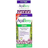 Асаи и зеленый чай для похудения, Natrol, 60 капсул