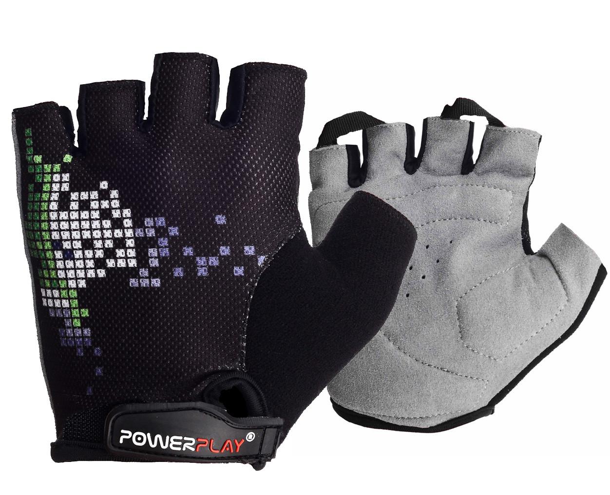 Велорукавички PowerPlay 002 A Чорні XS