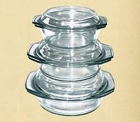 Набор термостойкой посуды, 1.0л+1.5л+2.0л 6в1 Dekok GW-711EF