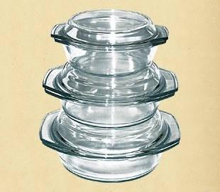 Набор термостойкой посуды 1.0л+1.5л+2.0л 6в1 Dekok GW-711EF
