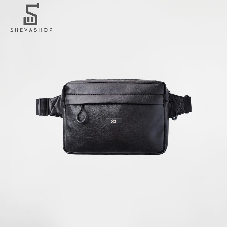 Сумка на пояс gard Cube eco-leather | черный глянцевый 1/19