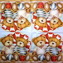 Салфетка декупажная Мишки морячки 1733