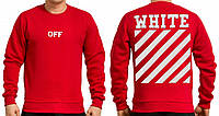 "Свитшот OFF WHITE  Fleece  """" В стиле Off White """" красный"