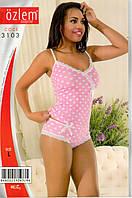 Женская пижама, комплект для дома и отдыха майка  и трусики Ozlem 3103