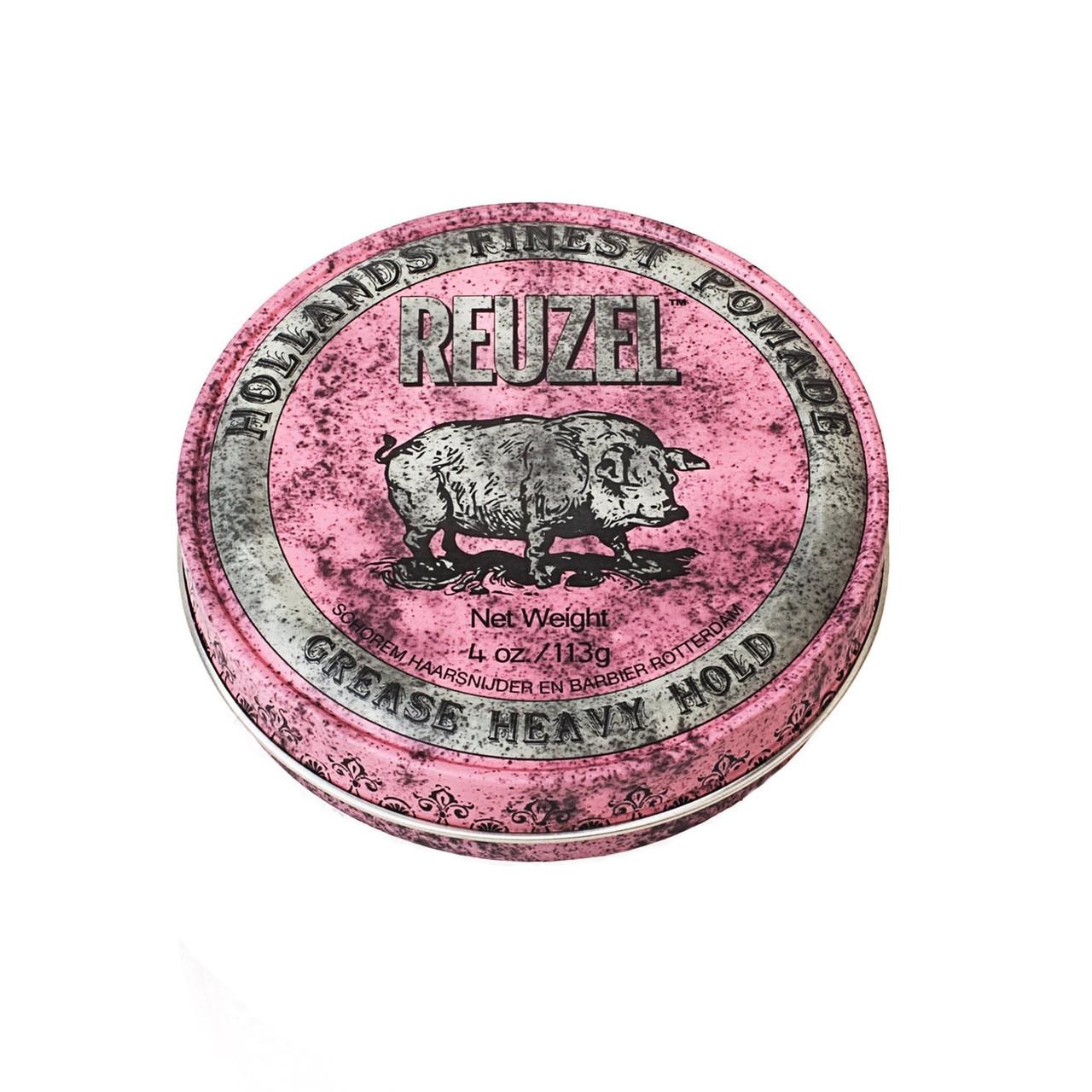 Воск Reuzel Pink Grease Heavy Hold Pomade 113 г
