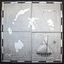 Салфетка декупажная Морская 1662