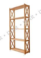 Деревянный стеллаж (этажерка) ШАРМ из массива дуба 2110*800*290мм. 6 полки