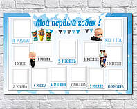 Плакат 12 месяцев Босс Молокосос 75х120см