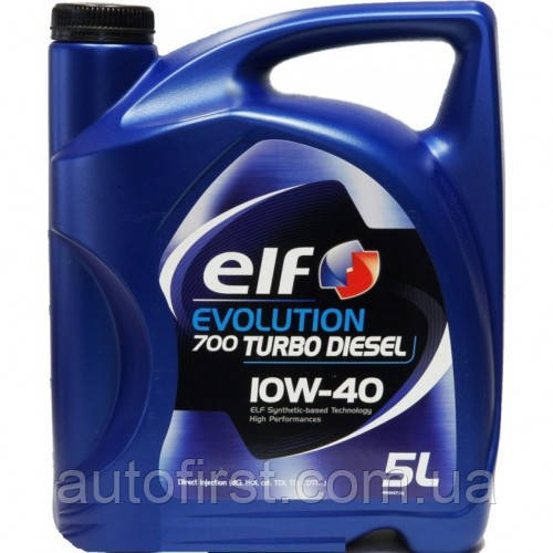 ELF Масло 10W40 Evolution 700 Turbo Diesel (5L) (ACEA 2007/A3/B4/API/SL/CF/VW 505.00/MB 229.1)