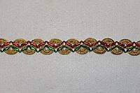 Тесьма декоративная люрекс трёхцветная  6161