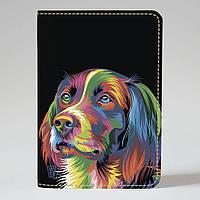 Обложка на паспорт Fisher Gifts 718 Разноцветный пес (эко-кожа), фото 1