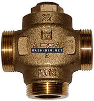 Трехходовой смесительный клапан HERZ Teplomix 60°C DN32 1 1/2