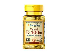 Антиоксидант Витамин Е Puritan's Pride Vitamin E mixed tocopherols 400 IU 100 softgels