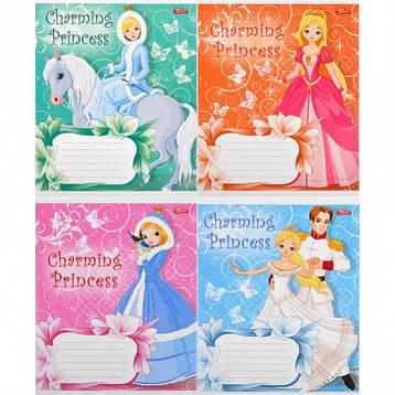 Тетрадь цветная 12 листов, косая с доп. линией «Принцессы»     20 штук          1940с/2395с, фото 2