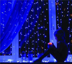 РАСПРОДАЖА! Гирлянда Водопад 2.5 х 2.5 м. 480 LED синий цвет