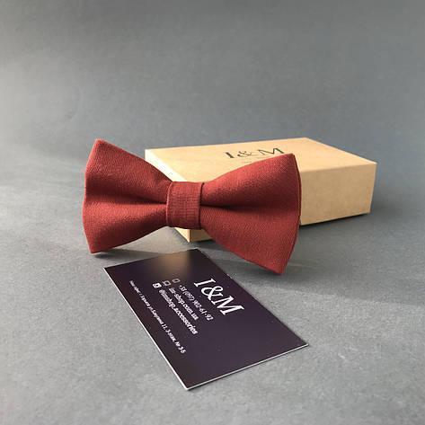 Галстук-бабочка I&M Craft классический терракотовый (010321), фото 2