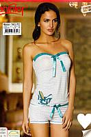Женская пижама, костюм для дома и отдыха майка и шортики Sahinler B484
