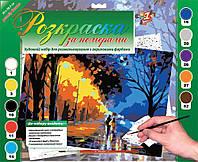 """Раскраска по номерам """"Осень"""", 39х28,5см."""