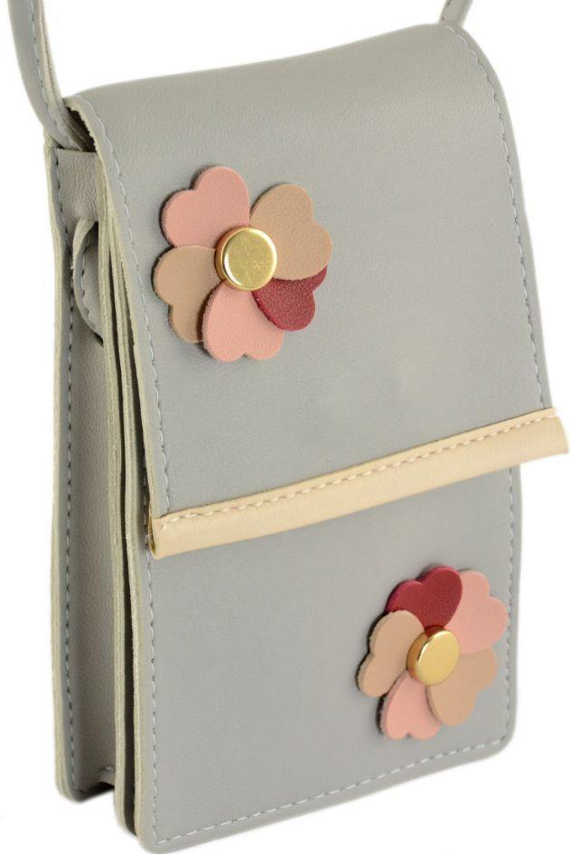 Мини-сумка женская TRAUM 7203-52, кожзам, серый