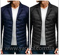Классическая куртка, тонкий пуховик мужской демисезонный. Силиконовый наполнитель. Украина