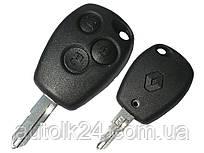 Ключ RENAULT 3 кнопки 434Mhz  ID46 лезвие NE73