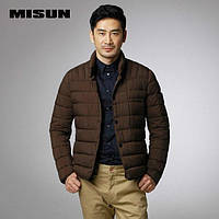 Классическая куртка, тонкий пуховик (силикон) мужской весна-осень. Украина. Размеры 50-80 большие