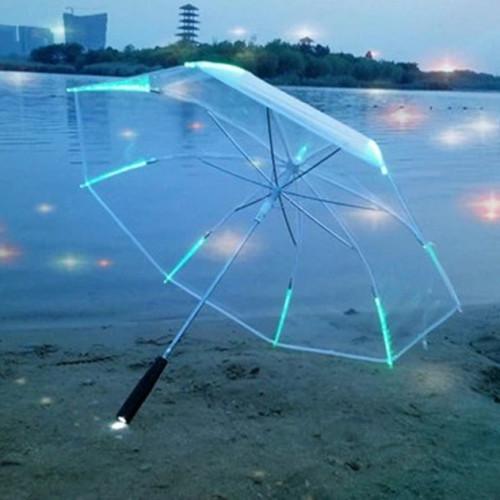 Прозрачный зонт с LED-подсветкой