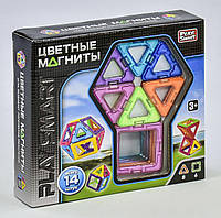 Конструктор магнитный 2425 Play Smart, 14 деталей