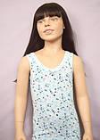 """Майки детские для девочек """"Цветы, сердечки"""" ТМ Baykar, Турция оптом р.2 (110-116 см) ост.1 шт розовый, фото 2"""